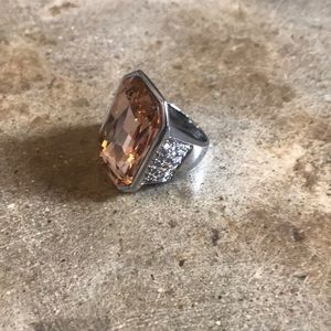 Ann Taylor Diamond Crystal Cocktail Ring 7